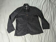 Universal Works Men's Bakers Twill Button Front Jacket AB3 Black Medium NWT $238