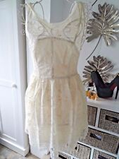 Cream overlay lace dress myse brand size 8