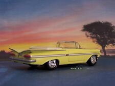 1959 59 CHEVY IMPALA CONVERTIBLE 1/64 SCALE DIECAST COLLECTIBLE MODEL - DIORAMA
