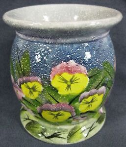 Judy Buswell Tarts Wax Melt Warmer Pansies Flowers Pastel 2002