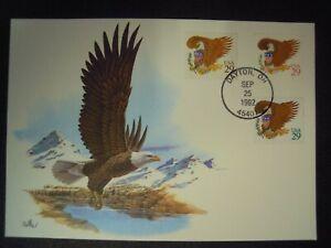 USA - EAGLE & SHIELD SELF ADHESIVE FDC (MAXI CARD) EAGLE POSTCARD 1992