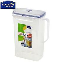 Lock And Lock Rectangular Fridge Door Jug 2L Food Storage Solution Kitchen New