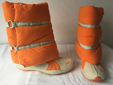 NWD PUMA ORANGE BEIGE TEXTURE FUNKY BOOTS 7.5 SOLD OUT COLLECTOR'S ITEM