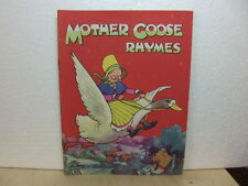 Mother Goose Rhymes 1950s kids book Dean & Son Ltd