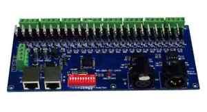 DMX-CC-24CH 24 CH DMX512 LED Decoder Dimmer Controller Drive RGB LED Strips