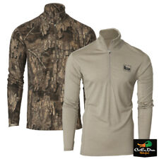 NEW BANDED GEAR BASE LAYER WOOL 1/4 ZIP PULLOVER TOP  - B1030019 180 GRAM