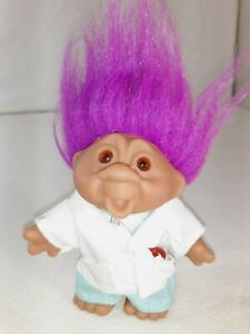 "2001 Totally Troll Playmates 5"" Dolls Dr. Cornelius Care Toy Doctor Clothes"