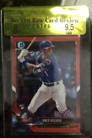 2018 Amed Rosario Bowman Chrome Topps National Red Refractor /5 Bgs 9.5 Rookie