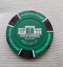 "Neues Logo""1 originaler Harley Davidson Pokerchips "" Factory Frankfurt  Germany"""