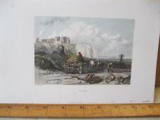 Vintage Print,DIEPPE,Stanfields,English Channel,1836