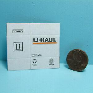 Dollhouse Miniature Cardboard Moving UHaul Box Flat or Foldable White L4206