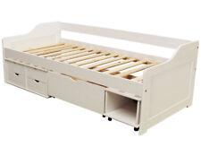 KMH® Bett 90x200 cm weiß Kinderbett Jugendbett Gästebett Funktionsbett Kojenbett
