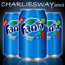 3 x LATTINE DI FANTA BERRY DA 355 ML MADE IN USA SODA BIBITA AMERICANA PARTY