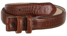 Snap on Leather Belt Strap Croc Removable Brown Print New Mens Dress Alligator