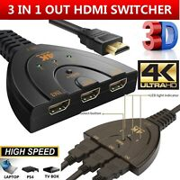 HDMI Splitter 3 Port HDMI Switch Switcher 3 in 1 Out 4K Hdmi Converter Adapter