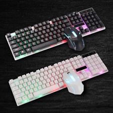 Tastatur Wired Gaming Keyboard Maus Set USB RGB LED für PC Laptop PS4 Slim DHL