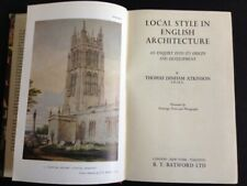 LOCAL STYLE in ENGLISH ARCHITECTURE 1947 Book Atkinson REGIONAL DESIGN TRAITS