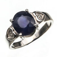 925 Sterling Silver Handmade Blue Sapphire Natural Certified 3.25 Ct Halo Ring