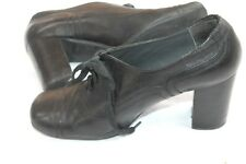 Aldo  shoes Size 39  8.5 M granny booties oxford block heels black leather shoes