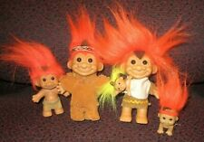 Russ Troll Indian / Native American Family Lot, 5 trolls, Rare, Thanksgiving