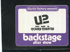 U2 1983 - backstage AFTER SHOW pass - Tower Theater Upper Darby, PA-VERY RARE!