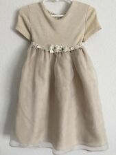 Bonnie Jean Gold Party Dress Girls Size 4T Made In USA