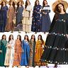 Abaya Kaftan Muslim Women Maxi Dress Dubai Party Gown Islamic Long Robe Caftan