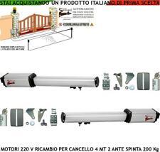 CANCELLO ELETTRICO 2 MOTORI 220 V RICAMBI COMPATIBILE VDS FADINI CAME PROTECO