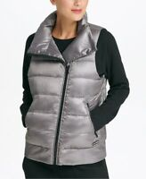 DKNY Womens Asymmetrical-Zip Down-Filled Vest