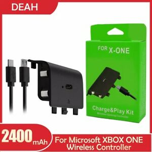 2400mAh Xbox One Wireless Controller Gamepad Rechargeable Battery With Cable