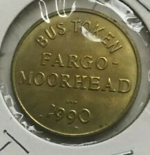 Fargo North Dakota ND 1990 Moorhead Area Transit MAT Transportation Token