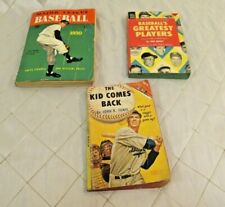 3 Vintage Books about Baseball Major League Kid Comes Back Greatest Players 1950