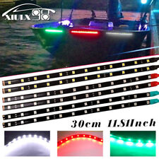 """6X 12"""" Navigation LED Light Yachts Boat Bow Port Red Starboard Green Stern White"""