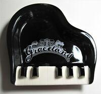 Vintage Elvis Presley's Graceland Ashtray Grand Piano Shaped Ceramic Memphis TN
