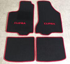 Autoteppiche Fußmatten für Seat Ibiza Cupra 6K  1993-2002 schwarz rot  Neu 4tlg.
