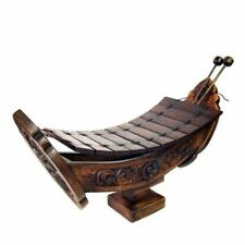 Thai Wooden Xylophone Ranad Brown Teak Wood Music Instrument Home Decor Handmade