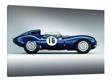 Jaguar D-Type - 30x20 Inch Canvas - Framed Picture Print Wall Art
