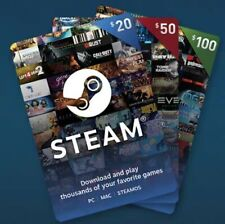 Steam wallet gift cards 100USD FOR 80$