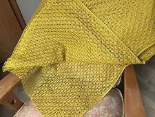 True Vintage Square Lace Fabric By The Yard Mustard Yellow Curtains/Pillow/Dress