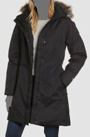 $335 The North Face Women Black Parka Down Waterproof Hooded Logo Coat Jacket XL
