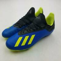 Adidas Boys X 18.3 FG Soccer Cleats Shoes Blue Yellow DB2416 Lace Up Low Top 5.5