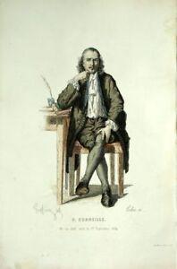 P.Corneille Costume Theatre Jean Racine engraving 19th