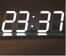 HUGE REMOTE CONTROL LED DIGITAL WALL CLOCK STOPWATCH THERMOMETER COUNTDOWN TIMER