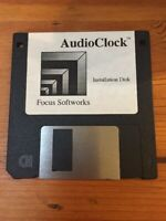 Vtg Macintosh Focus Softworks AudioClock Install Mac Floppy Disks Software 1995