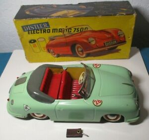 Works DISTLER ELECTROMATIC 7500 Porsche BOX Battery Operated Car WEST GERMANY