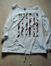 Super Langarm Basic Print Shirt - weiß - Gr. XL = 42 / 44 - s.Oliver - NEU