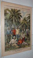 PETIT JOURNAL 1898 GUERRE USA-ESPAGNE CUBAINS / TROUBLES MILAN / MANUFRANCE VELO