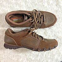 Skechers Womens Sz 7.5 M Brown Lace Up Tie Shoes Memory Foam Relaxed Fit