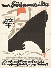 ADVERT SAIL SHIP ANTON SUDAMERIKA GERMAN ART POSTER PRINT LV250