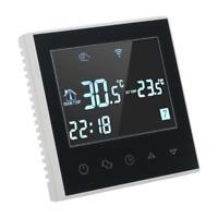 Thermostat Numérique de Chauffage sans Fil WiFi Programmable en PC + ABS Noir